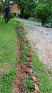 drainage ditch before excavation