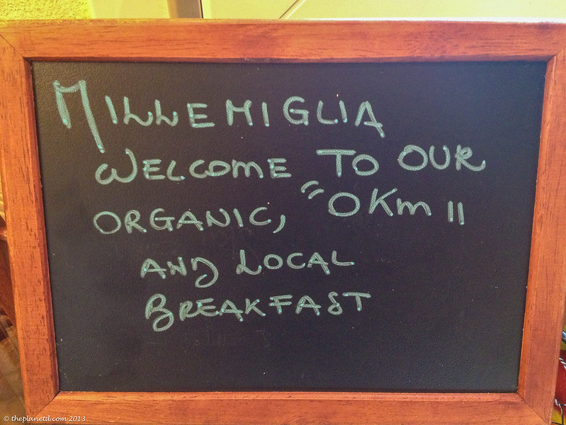 organic 0 km local breakfast