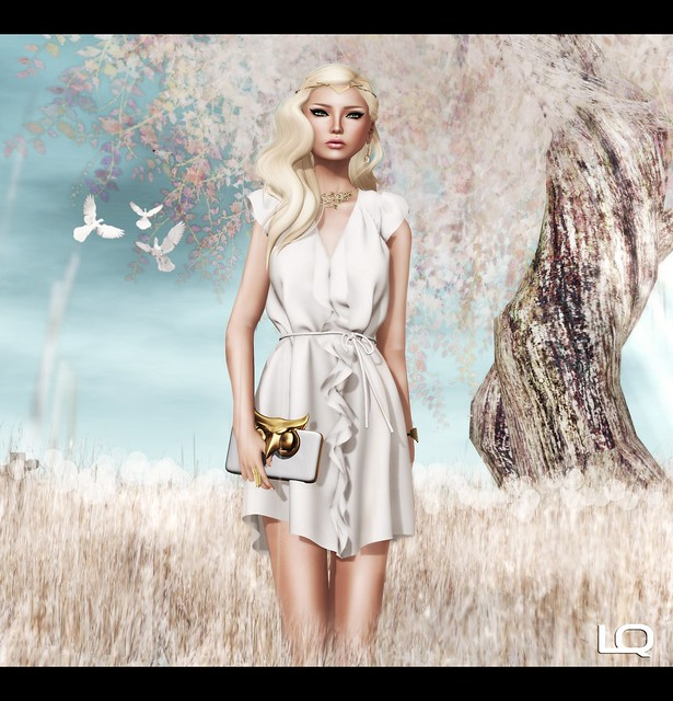 ISON - ruffle dress - (cream) for C88 and ISON Har - Ruby for Hair Fair 2013