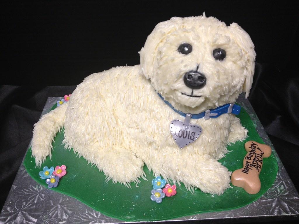 Birthday Cake Shaped Like Dog