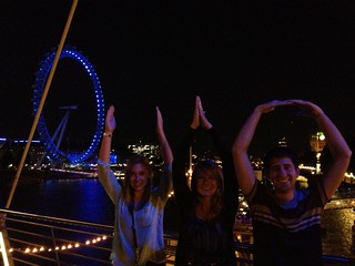 Accounting students share their Ohio State and Fisher pride in London!
