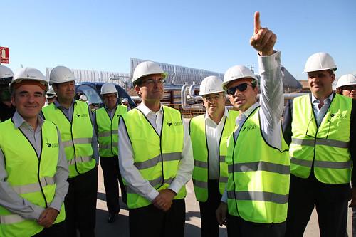 Artur Mas inaugura la planta termosolar de Les Borges Blanques