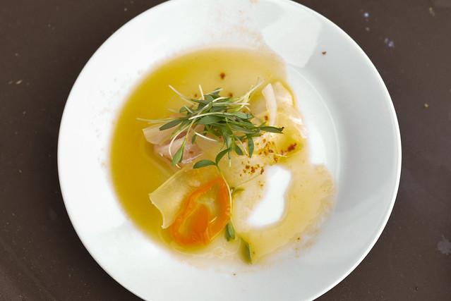 Nobu Malibu tai agave sashimi