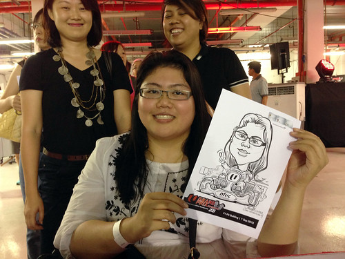 caricature live sketching for NTUC U Grand Prix Experience 2013 - 37