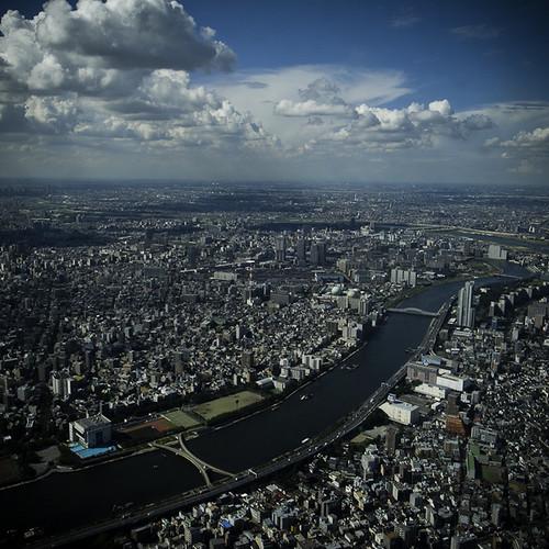Arakawa River from Skytree