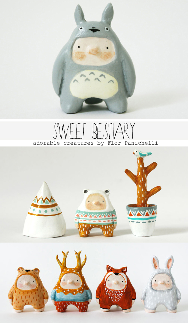 Sweet Bestiary - Art dolls, puppets, figurines and miniatures made by Flor Panichelli. | Emma Lamb