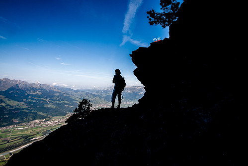 liechtenstein switzerland swiss swissalps smallestcountry hike hiking alps alpinehiking fürstensteig theprincesway rätikon mountain skyabove silhouette wideangle