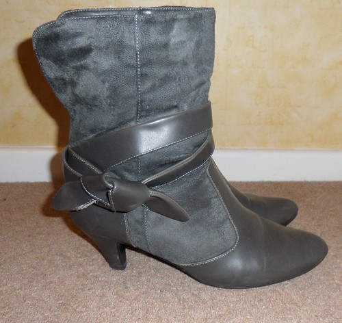 Ethel Austin Grey Ankle Boots