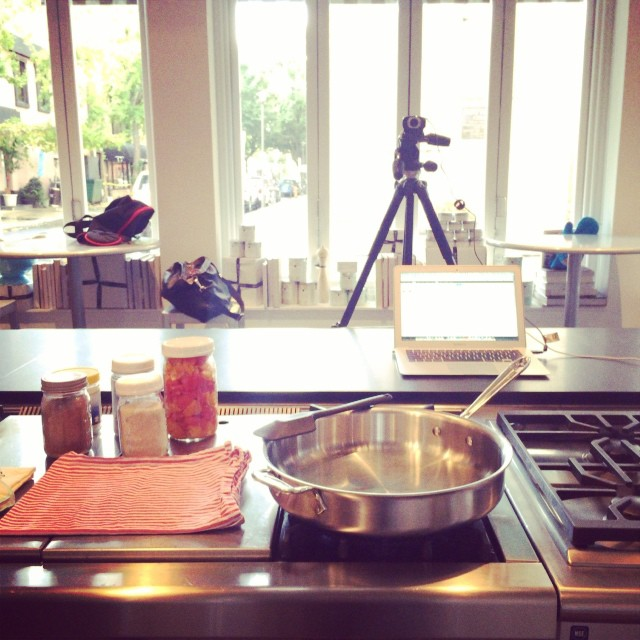 All set up to record an online canning demo!