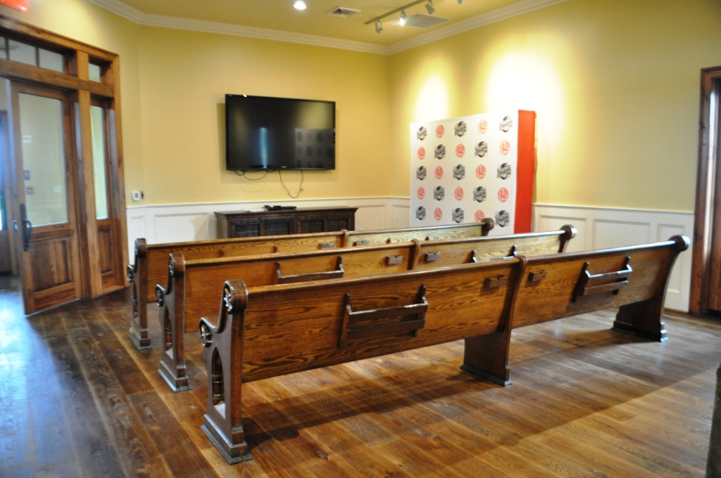 Why Yes, those Are Church Pews in the Viewing Room. They Were Salvaged from a New Orleans Church Abandoned After 2005's Hurricane Katrina