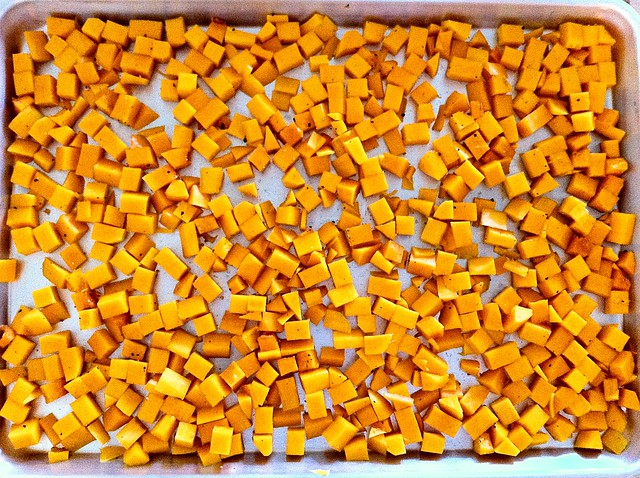Butternut Squash on Baking Sheet