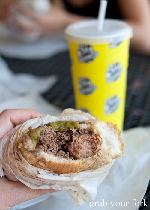 Italian beef and sausage combo Al's Italian Beef Chicago Illinois