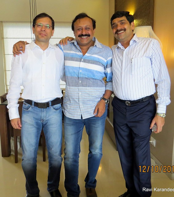 Mr. Kedar Vanjape, Kedar Vanjape Developers (www.kvdl.in), Mr. Abhijit Jadhav, Venkateshwara Realty (www.venkateshwara.net) & Mr. Shamkant Kotkar, Nandan Buildcon (www.nandanbuildcon.com) - Did you visit the 4 BHK show flat of Metro Jazz, oppos