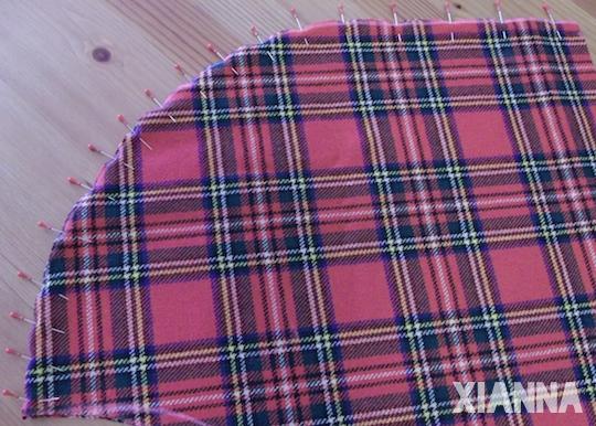 DIY plaid-blanket wrap