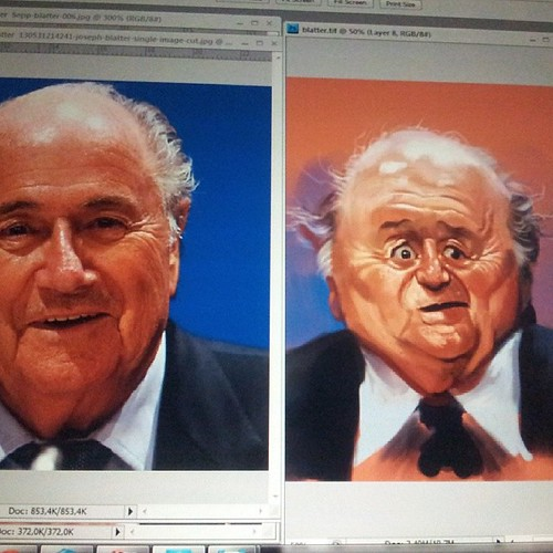 #Blatter #caricature by caricaturas