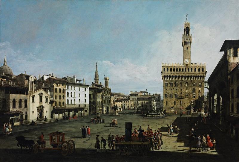 Bernardo Bellotto - The Piazza della Signoria in Florence