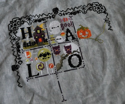 Halloween sampler half done