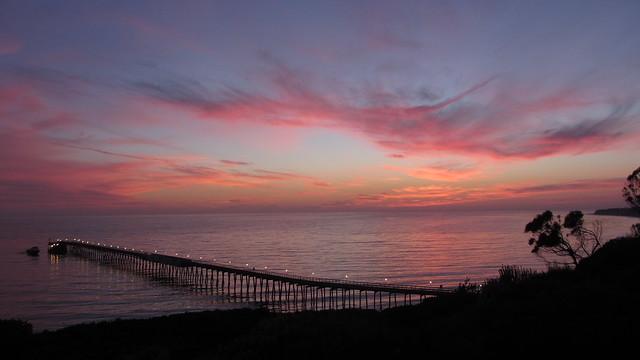 IMG_4709 bacara sunset over venoco pier goleta