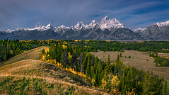Ridgeline To The Fall Tetons