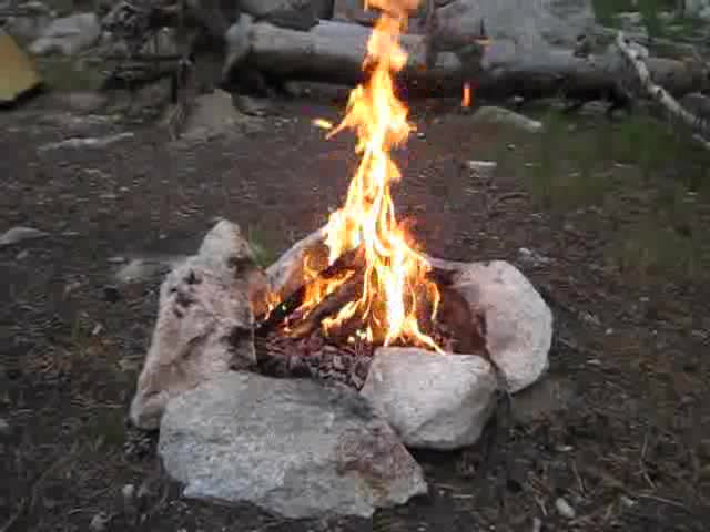 2452 Video of our campfire burning in Matterhorn Canyon
