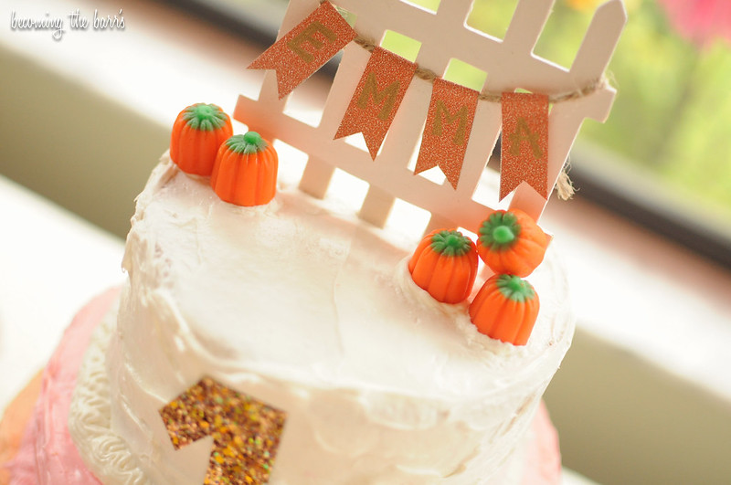 easy diy pumpkin rustic chic cake topper