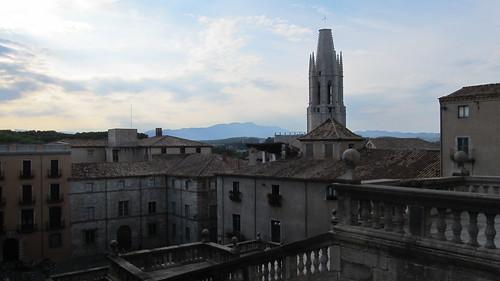 העיר העתיקה של חירונה ממרפסת כנסיית העיר (צילום מקורי)
