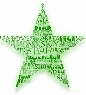 christmas star worlds green