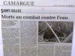Fourques - Commemorations des inondations de 2003
