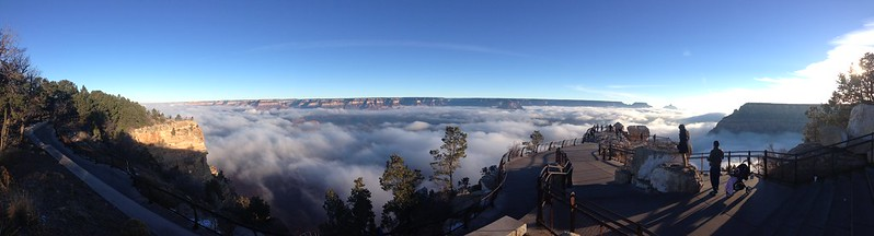 Grand Canyon Inversion 2013 - Mather Point Panorama
