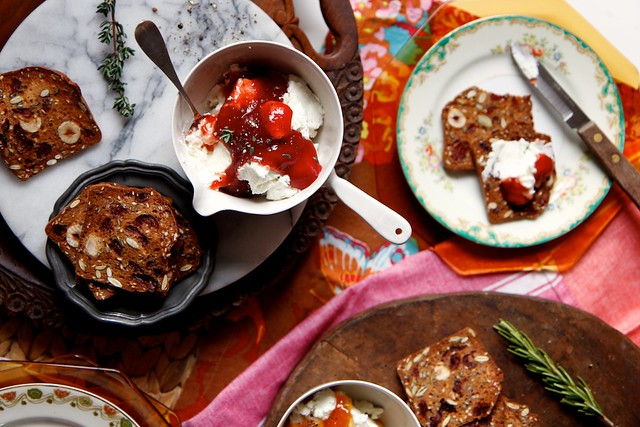 Warm Herb and Jam Goat Cheese Spread