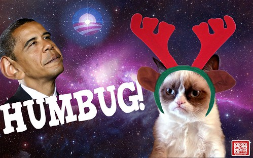 GRUMPY CAT HUMBUG by WilliamBanzai7/Colonel Flick
