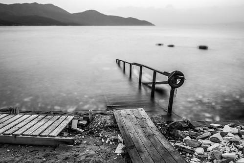 sea landscape long exposure greece