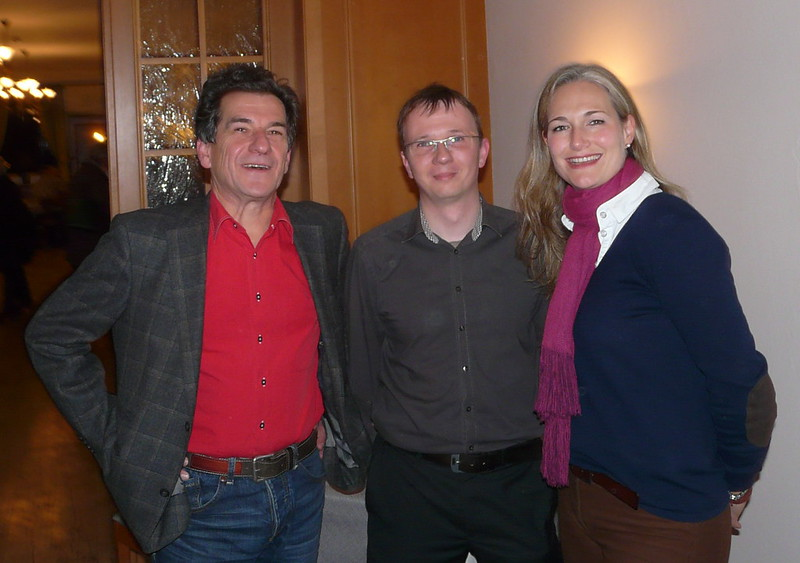 Klaus Barthel, Michael Geyer und Julia Ney bei der Diskussion über den Koalitionsvertrag in Weßling