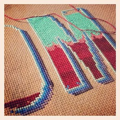 It's been a long time since I've done a counted cross stitch. I'd forgotten how addictive it is.