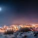 Glowing in the ice fog