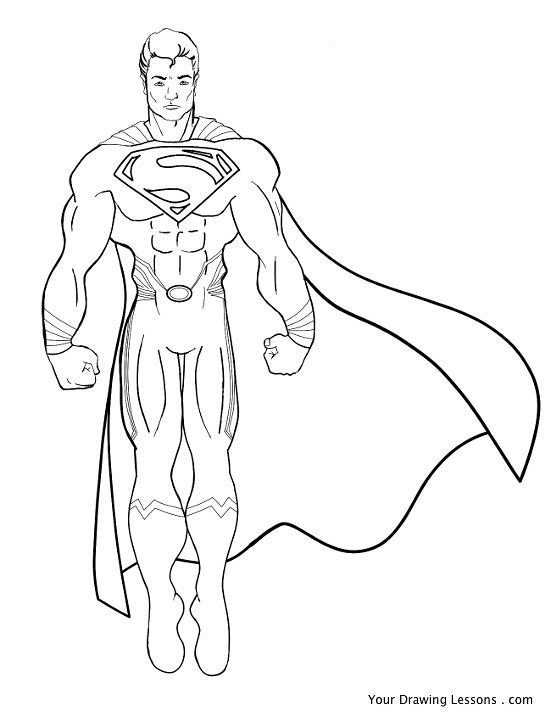 superman drawing a drawing of superman black and white