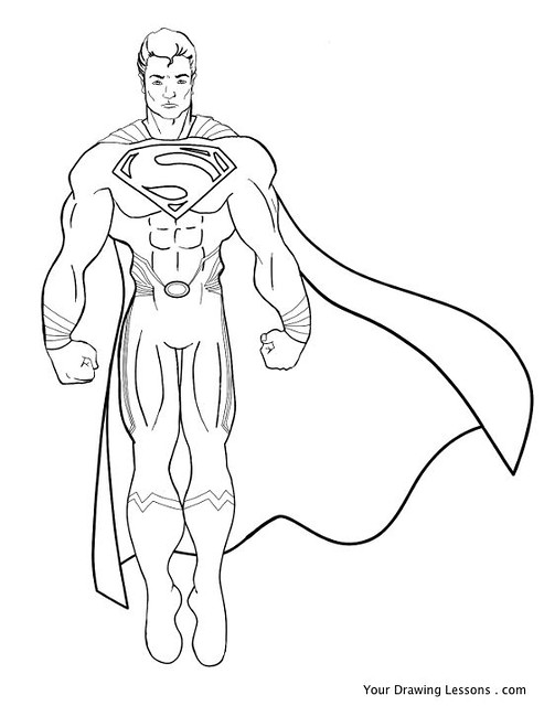 superman man of steel coloring pages - free coloring pages of how to draw superman