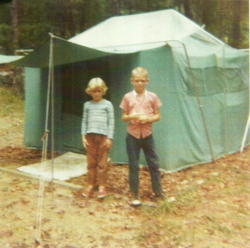 Camping at Holliday Lake around 1970