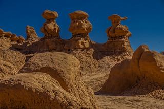 The three HooDoo wisemen -- DSC03134--Valley of the Goblins, Utah