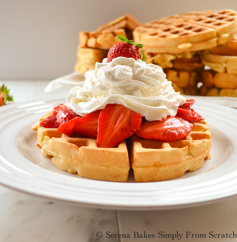 Perfect Waffles with Strawberries