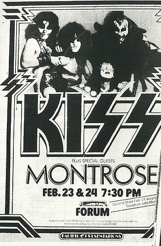 02/23 - 24/76 Kiss/ Montrose @ The Forum, Los Angeles, CA
