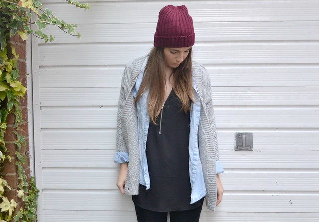 F&F top, denim shirt and office boots 3