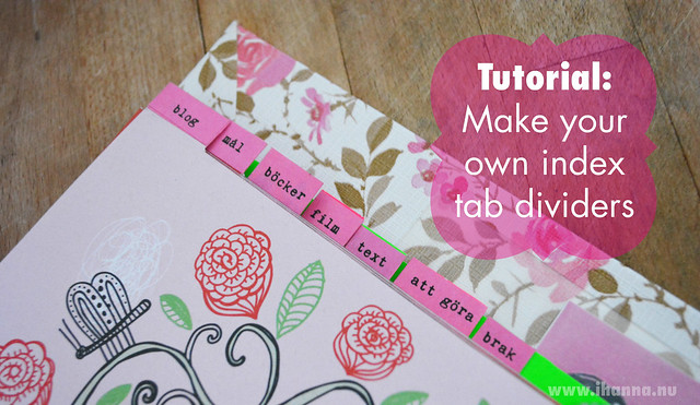 DIY Calendar Idea | Make Your Own Index Tabs | iHanna's ...