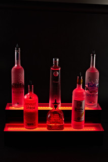 2 Step Multicolored LED Bottle Display | Armana Productions - Liquor Shelves