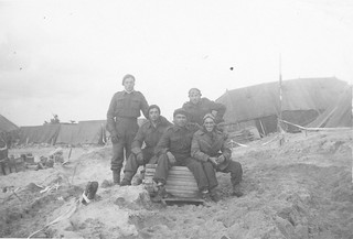 Canadian soldiers on the beach
