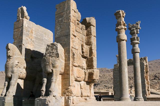 Gate of all Nations, Persepolis, Iran ペルセポリス遺跡、クセルクセス門