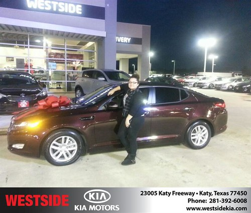 Thank you to Yasmin Arevalo on your new 2012 #Kia #Optima from Rubel Chowdhury and everyone at Westside Kia! #RollingInStyle by Westside KIA