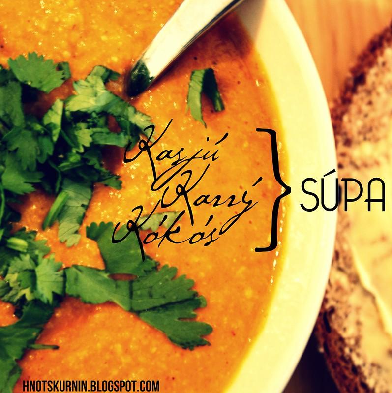 Kasjú-karrý-kókos súpa