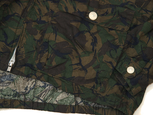 Manual Alphabet / C/L Sheeting Camo Drizzler Jacket