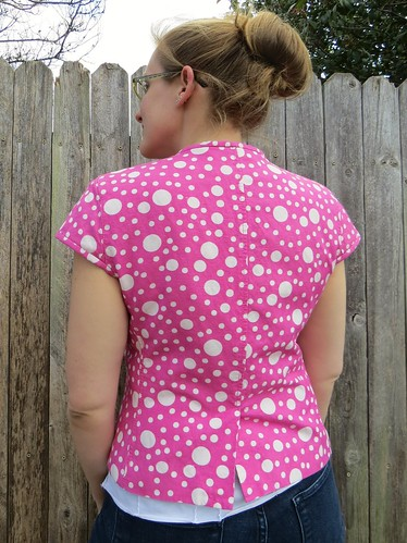 Pink Polka Dot Blazer - After